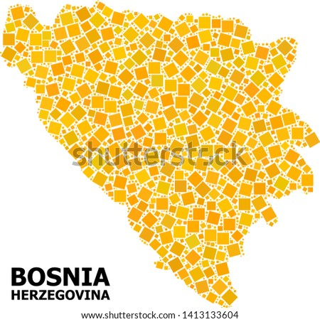 gold square pattern vector map