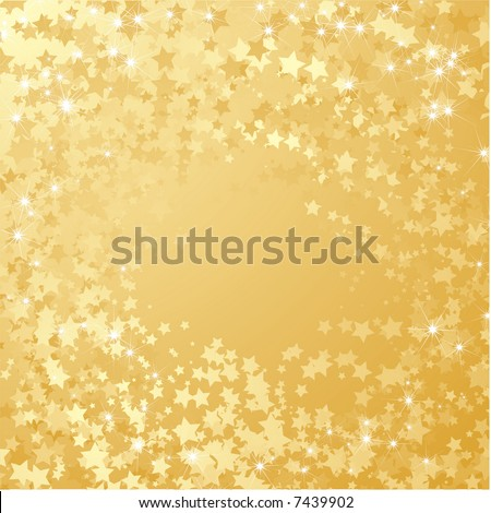 gold stars background. stock vector : Gold star