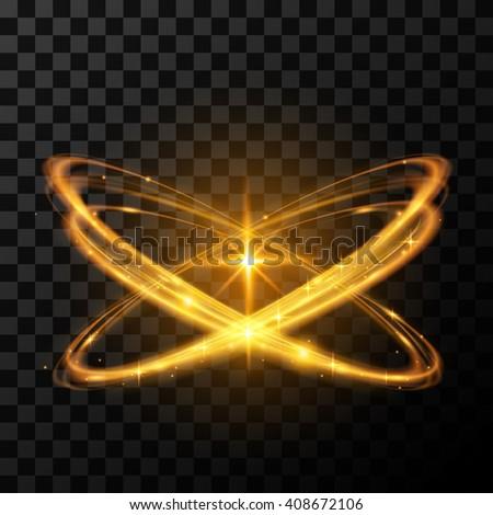 Gold star light effect