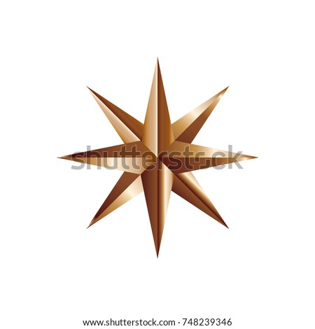 Gold star logo template #748239346