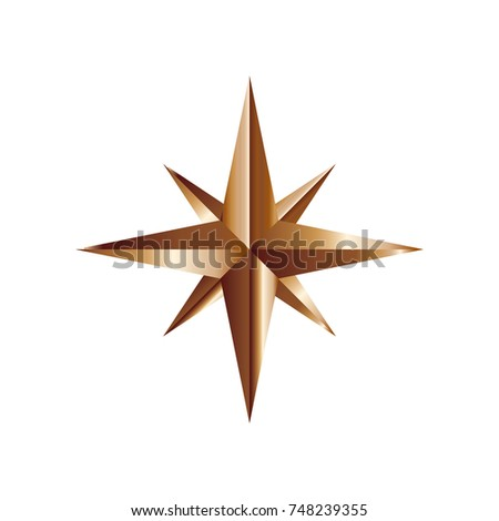 Gold star logo template #748239355