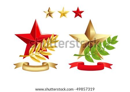 gold star award. gold star award template.