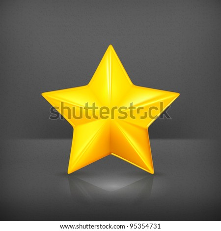 Gold star, vector
