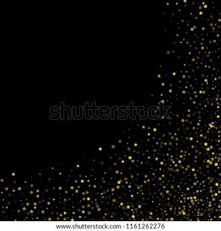 vector sparkles on gold stars confetti vector christmas celebration background bright sparkles new year birthday party border