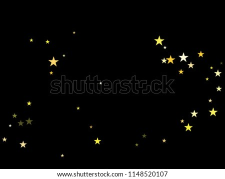 gold stars confetti vector cosmic magic light border christmas birthday party lights gamour sparkles glitter celebration decoration noble rich new year