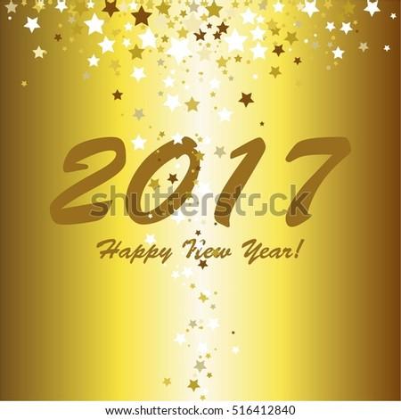 Gold stars. Happy New Year! #516412840