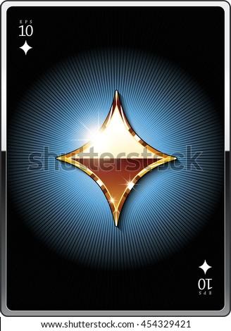 Gold suit symbol