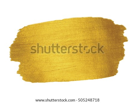 Gold Texture. Brush stroke design element.