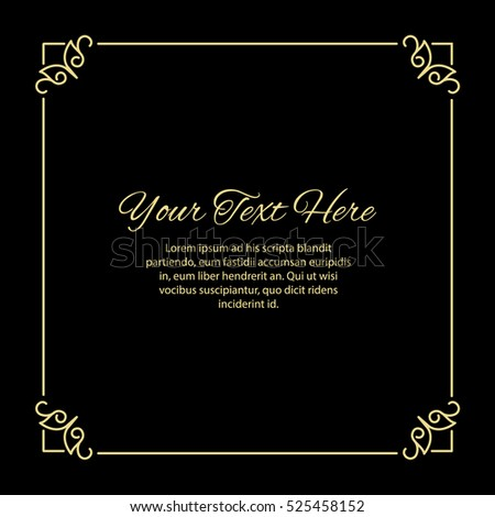 gold thin square frame made in...