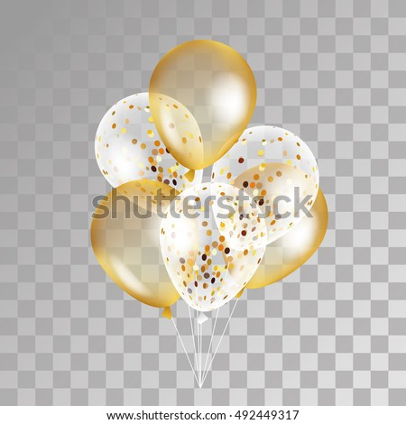 gold transparent balloon on