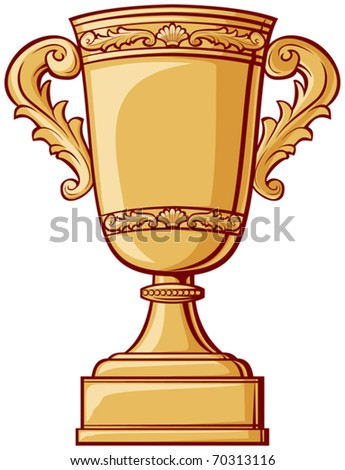 Gold Trophy Cup - stock vector