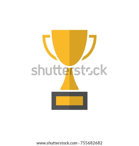 Gold trophy cup icon
