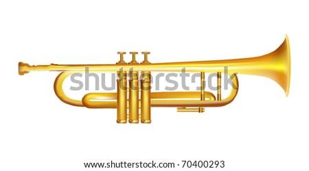 Gold Vector Trumpet