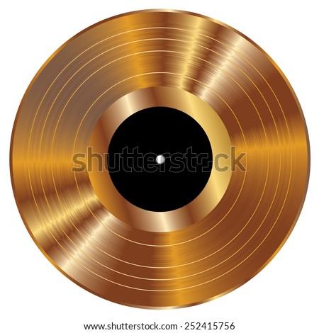 gold vinyl vector illustration