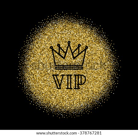 Gold Vip Logo In Line Style Vector. Vip Members Only ...