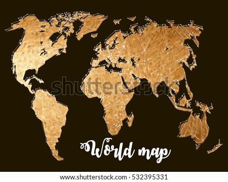 gold world maps  constellation