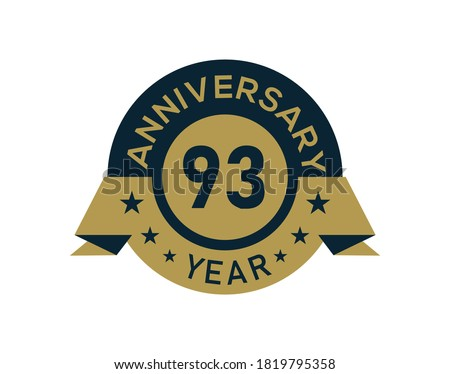 gold 93 years anniversary badge