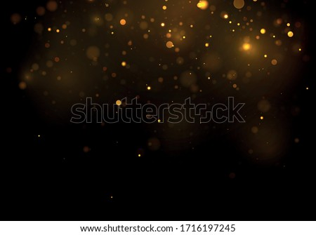 gold  yellow bokeh effect on