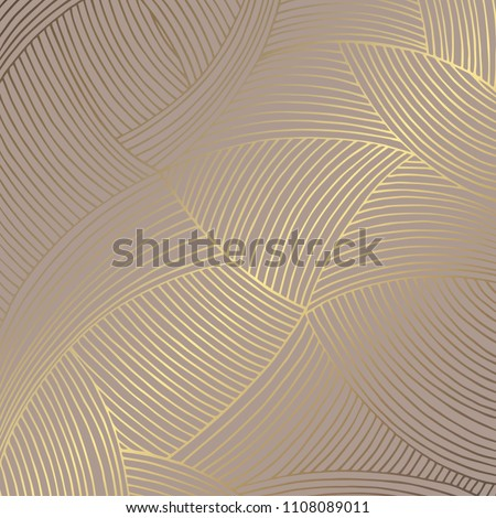 Golden abstract. Elegant decorative background. Vector pattern for the design of invitations, cards, covers and other surfaces
