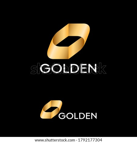 golden abstract shaped like