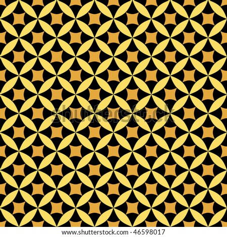 Golden and black abstract seamless pattern (vector)