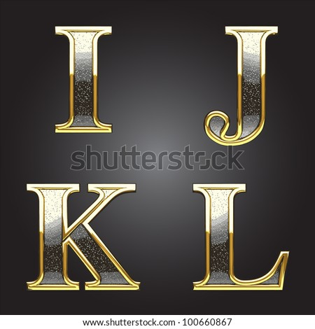 Golden and silver vector figure - stock vector