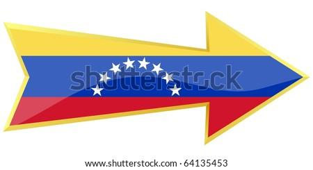golden arrow with the national flag of Venezuela
