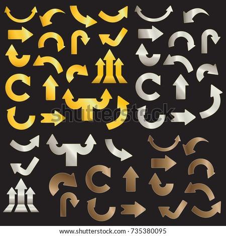 Golden arrows silver arrows and copper arrows