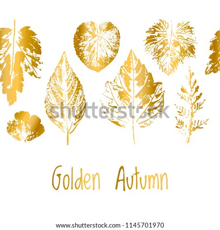 golden autumn border leaf fall