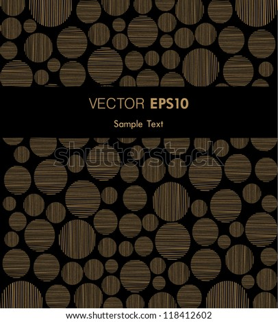 Golden background with place for your text and circle pattern. Template for design covers, invitations, greeting cards, wrapping