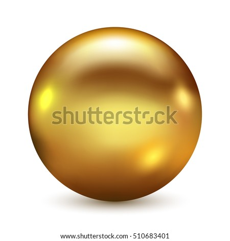 golden ball isolated on white