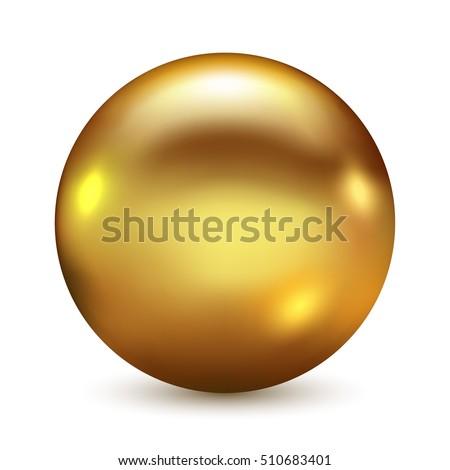 golden ball isolated on white