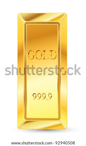 golden bar - stock vector