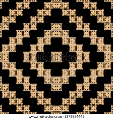 golden black Art Deco pattern in ethnic style Aztec style hipster style