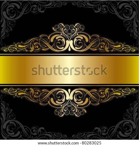 Golden black label design