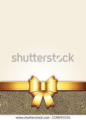 golden bow background (also available jpg version)