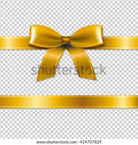 golden bow isolated  isolated