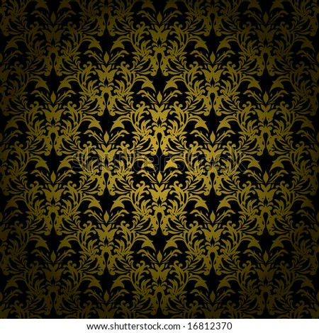 Golden brown floral design that would make an ideal seamless background