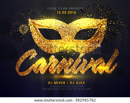 golden carnival mask ...