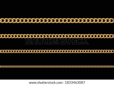 golden chain design hand drawn
