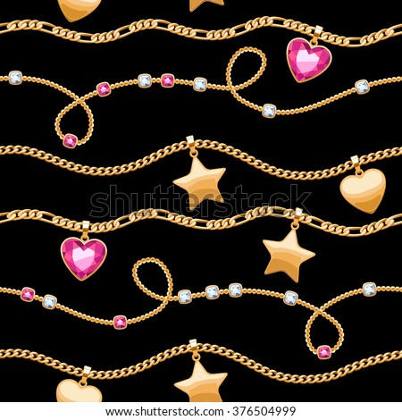 golden chains white and pink
