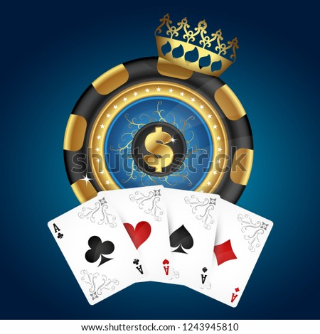 golden chip with crown and