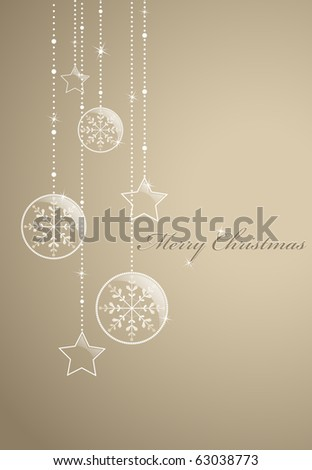 Golden christmas background with glossy ball. EPS10