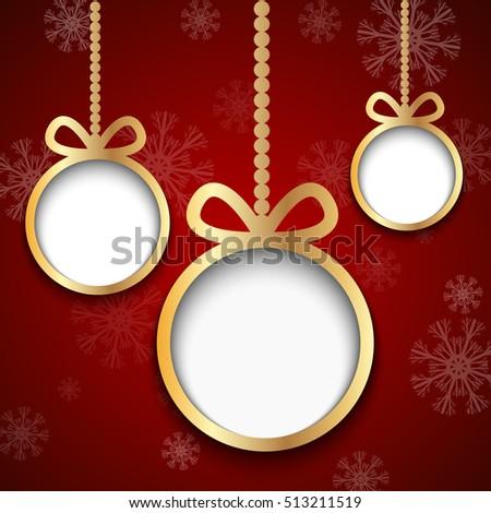golden christmas balls cut from