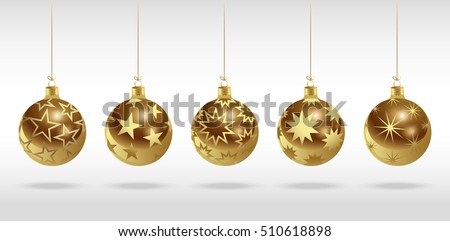 golden christmas balls with