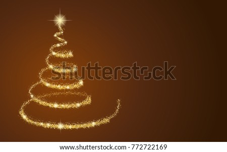 Shiny Sparkles Creative Christmas Tree Design