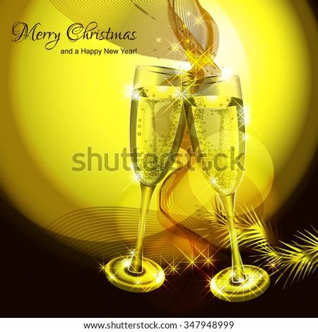 golden christmas vector