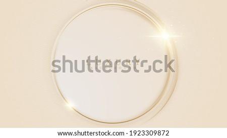 Golden circle luxury concept on cream background. Stock photo ©