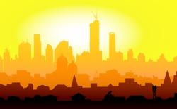 Golden City Sunrise