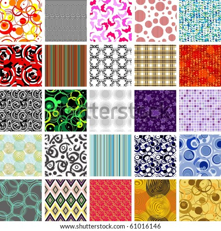 Golden collection of seamless wallpapers. Volume 1. - stock vector